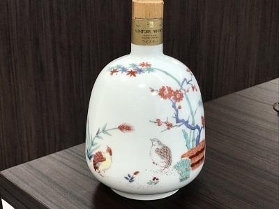 ウイスキー買取 サントリー エクセレンス 有田焼 岩尾對山 ボトル 本体のみ お酒高く売るなら 京都 MARUKA大宮店へ