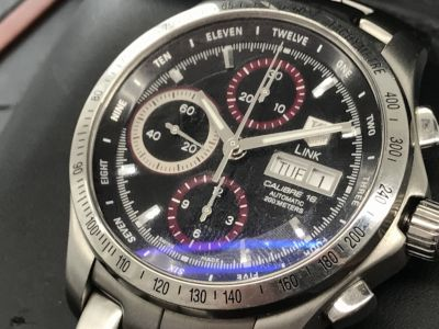 タグホイヤー買取 リンクデイデイト タイガーウッズ日本400本限定 時計買取MARUKA心斎橋店