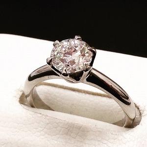 プラチナ 立爪一粒0.57ct Pt900ダイヤモンド リング  高価買取り マルカ渋谷 宮益坂