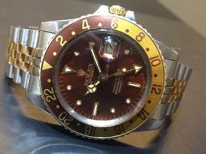 ロレックス買取 GMTマスターⅠRef.1675/3 フジツボダイヤル 750×SS ブラウンベゼル
