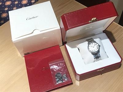 カルティエ買取 ロンドソロLM W6701005 SS QZ MARUKA渋谷店 時計買取 新宿