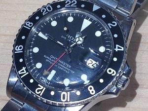 アンティークロレックス買取 GMTマスターRef.1675 黒ベゼル ステンレスモデル