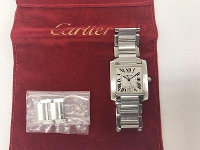 カルティエ タンクフランセーズLM買取 ブランド  時計買取なら 三ノ宮 神戸 元町MARUKA