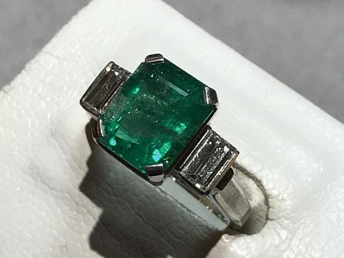エメラルド 宝石 指輪 ダイヤ リング 京都 四条 買取 烏丸