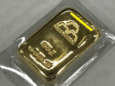 インゴット買取 日本マテリアル 金 50g インゴット高く売るなら 京都 MARUKA大宮店へ