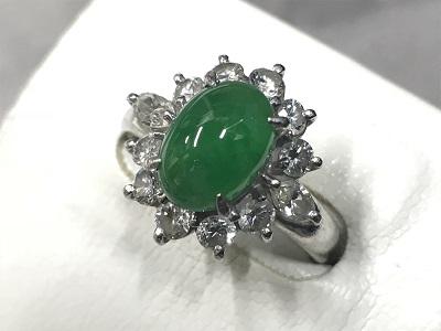 宝石買取 翡翠 ダイヤモンド プラチナ リング 貴金属買取 MARUKA渋谷店