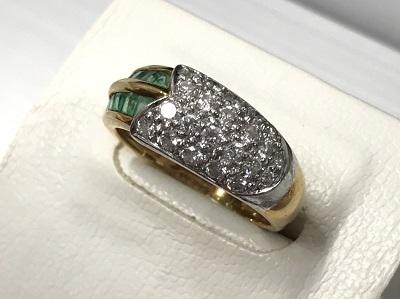 金プラチナ ダイヤモンド リング エメラルド 宝石 高価 買取 出張 買取