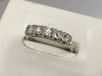 ダイヤモンド買取 一文字リング プラチナ 宝石 貴金属 ジュエリー買取 MARUKA渋谷店