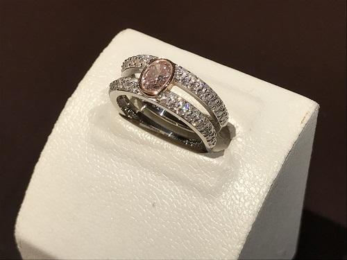 指輪 リング ダイヤ 買取 ピンクブラウニッシュ プラチナ 宝石 ジュエリー マルカ四条店