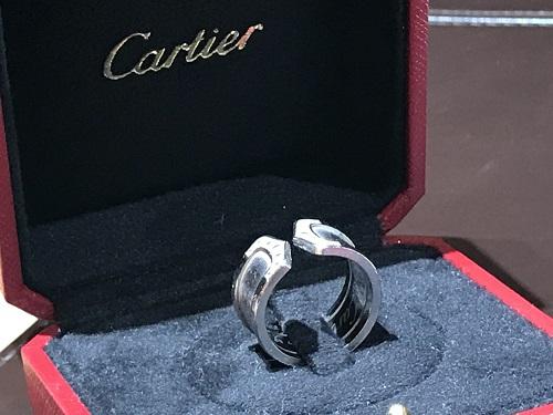 カルティエ 2Cリング ダイヤ ブランド 指輪 買取 四条 烏丸