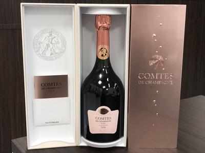 シャンパン買取 テタンジェ コント ド シャンパーニュ ロゼ 2006 750ml お酒高く売るなら 京都MARUKA大宮店へ