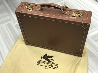 エトロ買取 アタッシュケース レザー ブラウン エトロ高く売るなら 京都MARUKA大宮店へ