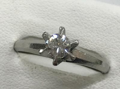 ダイヤモンド買取 プラチナ ダイヤモンド 0.32ct リング ダイヤモンド高く売るなら京都MARUKA 大宮店へ