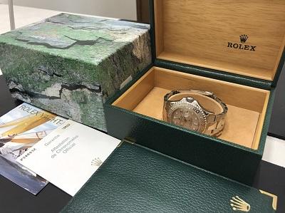 ロレックス買取り ヨットマスター買取り Ref.16622 ロレジウム 時計買取り 下京区 西七条 七条店