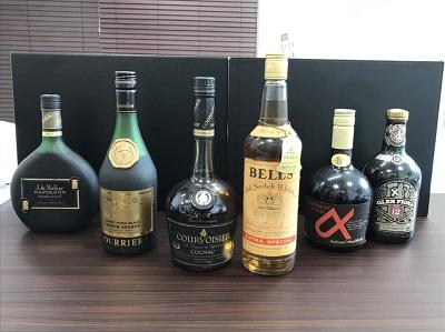 お酒買取 クルボアジェ ベル など ウイスキー ブランデー 6本 お酒高く売るなら 京都MARUKA大宮店へ