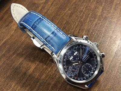 オメガ買取 スピードマスター トリプルカレンダー 3521.80 社外ベルト 時計買取 渋谷