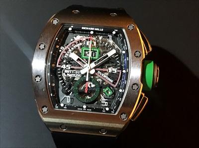 リシャールミル買取 RM11-01 ロベルトマンチーニ フライバッククロノグラフ 時計買取 渋谷 銀座