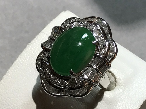 ヒスイ 翡翠 指輪 宝石 四条 烏丸 河原町 買取 ジュエリー ダイヤ