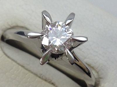 ダイヤモンド買取 ラウンドドブリリアントカット 0.512ct PT900 ダイヤモンド高く売るなら 京都MARUKA大宮店へ
