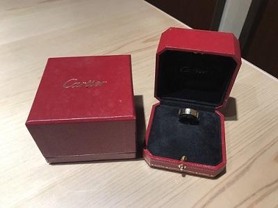 カルティエ買取 ラブリング 750PG 指輪買取 ジュエリー売却 マルカ渋谷店