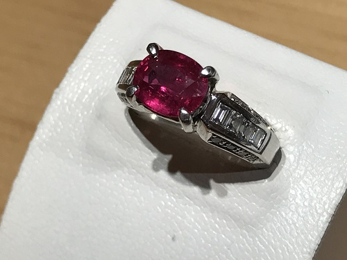 ルビー 指輪 買取 四条 京都  リング 宝石 ジュエリー 宝飾品 御池 寺町 京極