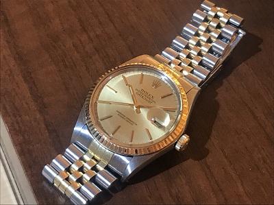 ロレックス買取 デイトジャスト 16013 SS×YG 時計買取 MARUKA渋谷店