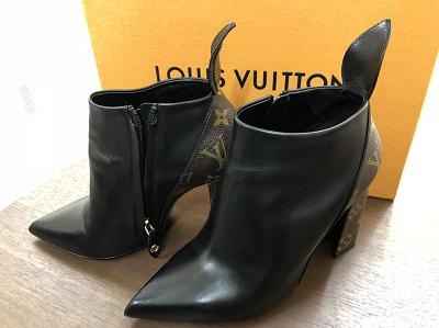 ルイヴィトン ショートブーツ モノグラム レザー レディース 中古美品 靴 ブランド 買取 京都マルイ店