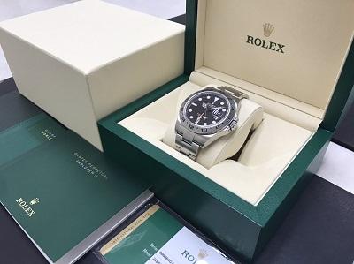 ロレックス買取 エクスプローラー2買取り 黒文字盤 腕時計 下京区 西七条 七条店