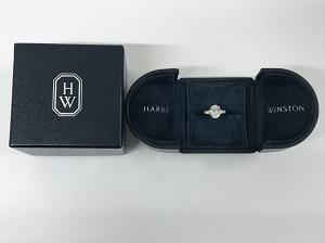 ハリーウィンストン買取 クラシックダイヤリング PT950 4.7g 1.02CT D VS1 VG NONE 銀座・有楽町・日比谷