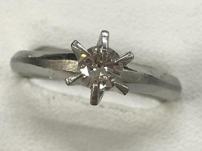 ダイヤモンド買取 立爪 ダイヤモンド 0.35ct プラチナ リング ダイヤモンド高く売るなら京都 MARUKA大宮店へ