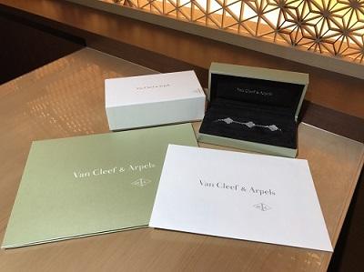 ヴァンクリ―フ&アーペル買取 ヴィンテージアルハンブラ買取 ブレスレット 5Pシェル 750WG 渋谷