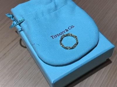 ティファニー買取 インフィニティ ナローバンドリング 750YG 指輪買取 渋谷