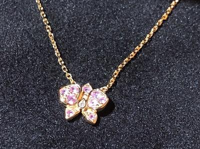 カルティエ買取 カレスドルキデパル ネックレス ジュエリー買取 渋谷 750PG ピンクサファイヤ ダイヤ