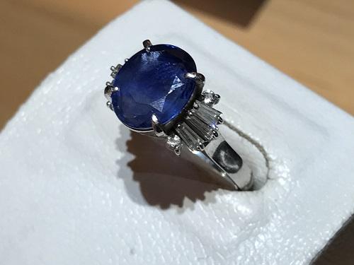サファイア 宝石 指輪 京都 買取 四条 烏丸 売却 ダイヤ プラチナ
