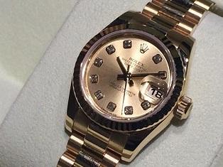 ロレックス買取 レディースデイトジャスト最新型 179178G 時計買取ならMARUKA大阪心斎橋店