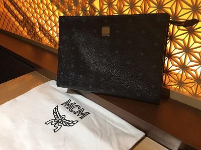 MCM買取 クラッチバッグ ブラック レザー ブランド買取 マルカ渋谷店