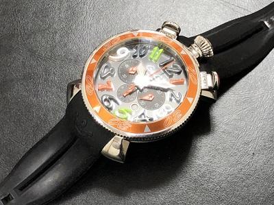 ガガミラノ マヌアーレクロノグラフ ラバーベルト 時計 ブランド 買取 四条 河原町