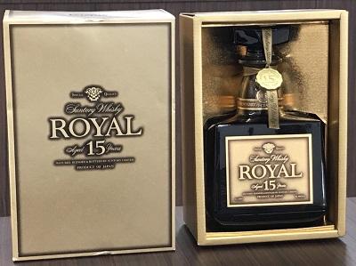 お酒買取 サントリー ローヤル 15年 ゴールドラベル 750ml 箱付 お酒高く売るなら 京都MARUKA三宮店へ