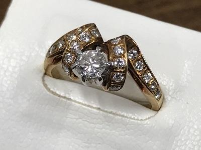 ダイヤモンド買取 リング K18 0.4ct 指輪 ノンブランド ジュエリー買取 マルカ渋谷店