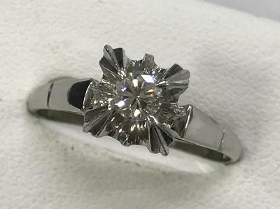 ダイヤモンド買取 ダイヤモンドリング 0.23ct  PT850 3,9g ダイヤモンド高く売るなら 京都MARUKA大宮店へ