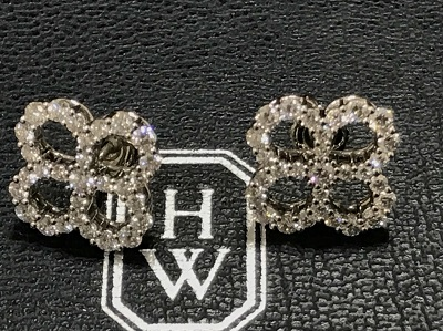 ハリー ウィンストン買取  オープンモチーフ ダイヤ ピアス PT950 ハリーウィンストン高く売るなら 京都MARUKA大宮店へ
