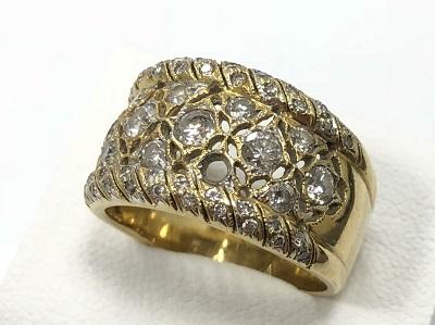 ダイヤモンドリング イエローゴールド メレダイヤモンド  壊れている ノンブランド 宝石 金 貴金属 買取 京都 四条 河原町