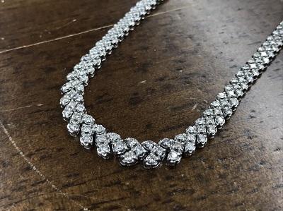 メレダイヤモンド買取 5.00ct ネックレス買取 プラチナ買取 宝石 ジュエリー 下京区 西七条 七条店