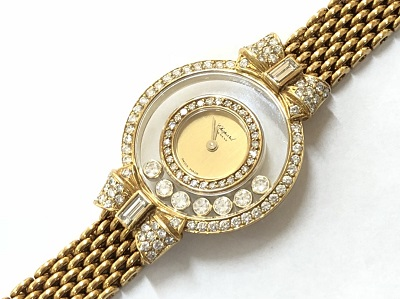 ショパール ハッピーダイヤモンド リボン イエローゴールド 4097 本体のみ 時計 ブランド 買取 京都 河原町