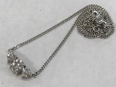 ダイヤモンド買取 ダイヤモンド ペンダント0.56ct 0.46ct プラチナ ダイヤモンド高く売るなら 京都MARUKA大宮店へ