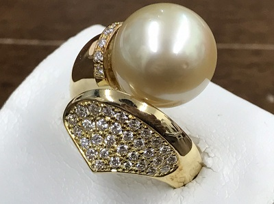 パール買取 メレダイヤモンド買取 0.58ct リング 18金 ジュエリー 宝石 西七条 西大路 七条店