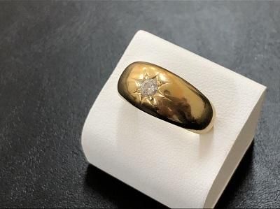 ダイヤモンドリング 18金イエローゴールド 0.2カラット 宝石 指輪 買取 京都 河原町 四条
