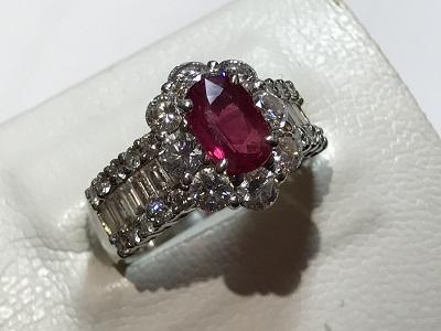 ルビー 京都 四条 指輪  買取 リング ダイヤモンド プラチナ ジュエリー