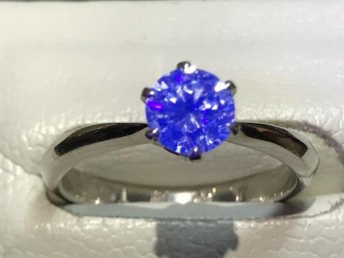 ダイヤモンド 買取 宝石 京都 四条 烏丸 リング 蛍光性 ストロングブルー 指輪 ジュエリー