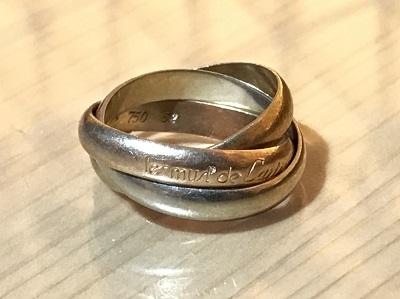 カルティエ買取 トリニティリング 750 指輪 ジュエリー買取 マルカ渋谷店